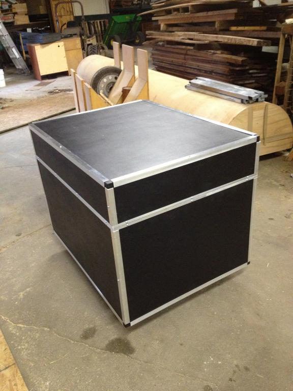 Diy road case for drums gearslutz pro audio community for Homemade rack case