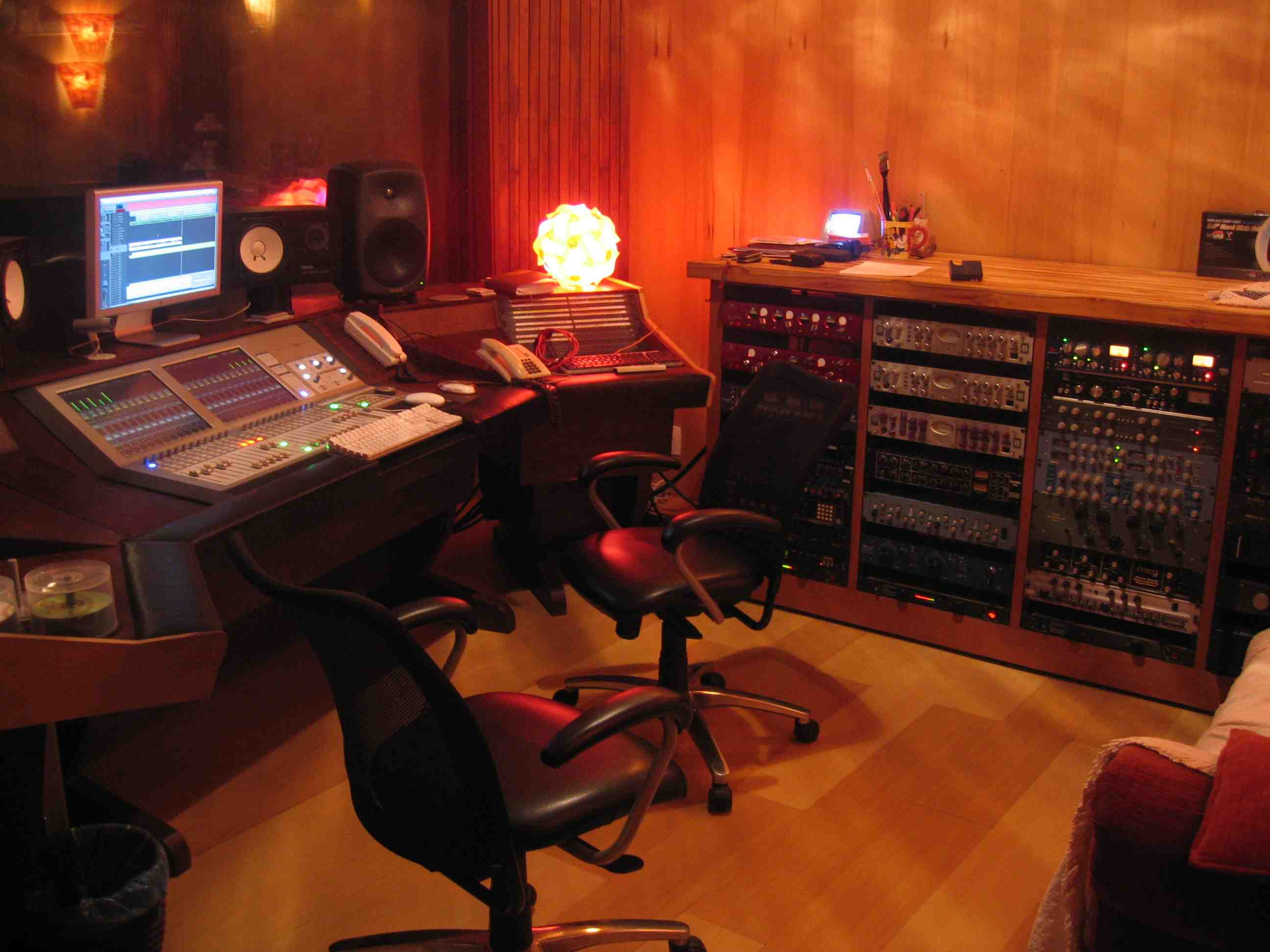Shipping container music studio joy studio design gallery best - Heavenly Tracks Recording Studio South Lake Tahoe Isolation Booth Featuring Acoustical Log Wall And Guilford Of Maine Fabric Covering R 300 Owens