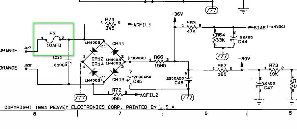 peavey classic 30 schematic diagram