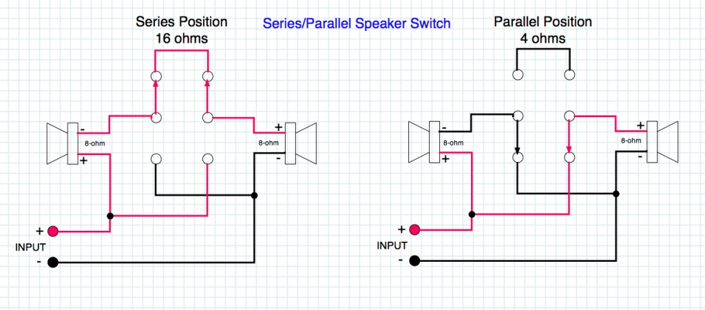 series parallel speaker wiring series parallel audio