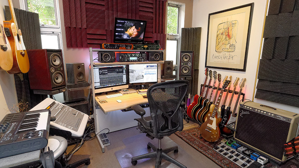 show us pictures of your daw workstation desk set up page 3 gearslutz. Black Bedroom Furniture Sets. Home Design Ideas