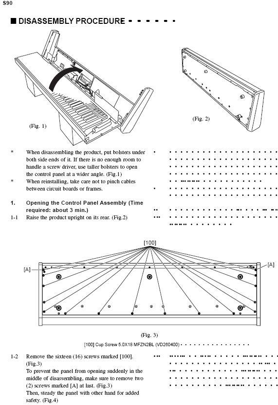 YAMAHA S90 Keyboard sticking key repair - Gearslutz