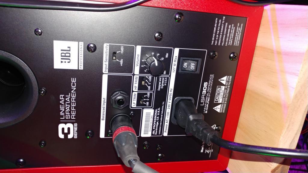 jbl lsr305 input sensitivity issue gearslutz pro audio community. Black Bedroom Furniture Sets. Home Design Ideas