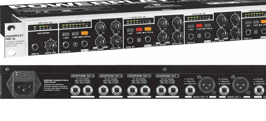 Battle Of The Multi Channel Headphone Amps Behringer Powerplay Pro Xl
