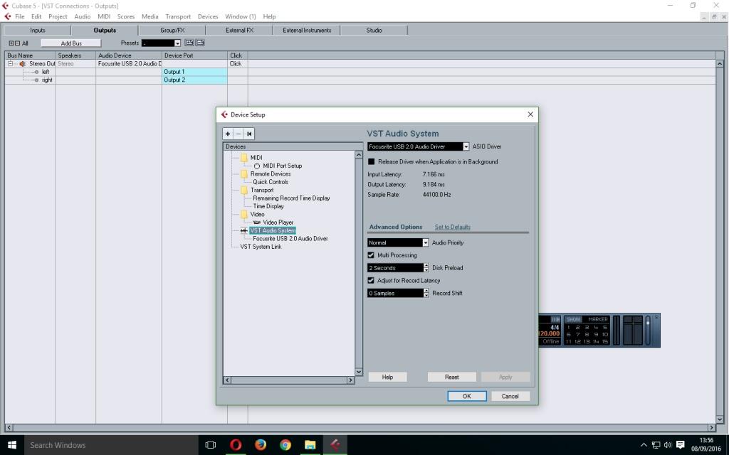 cubase 5 records blank audio gearslutz