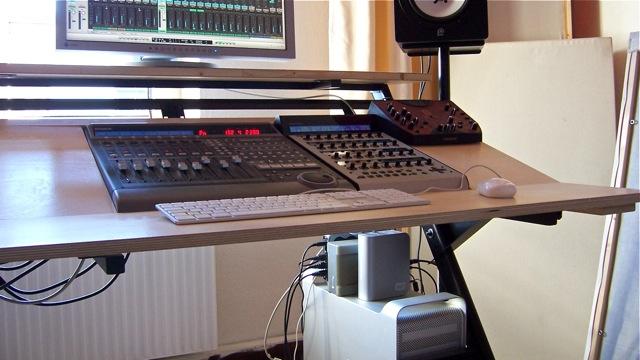 Semi Diy Desk For Mackie Control Setup Gearslutz Com