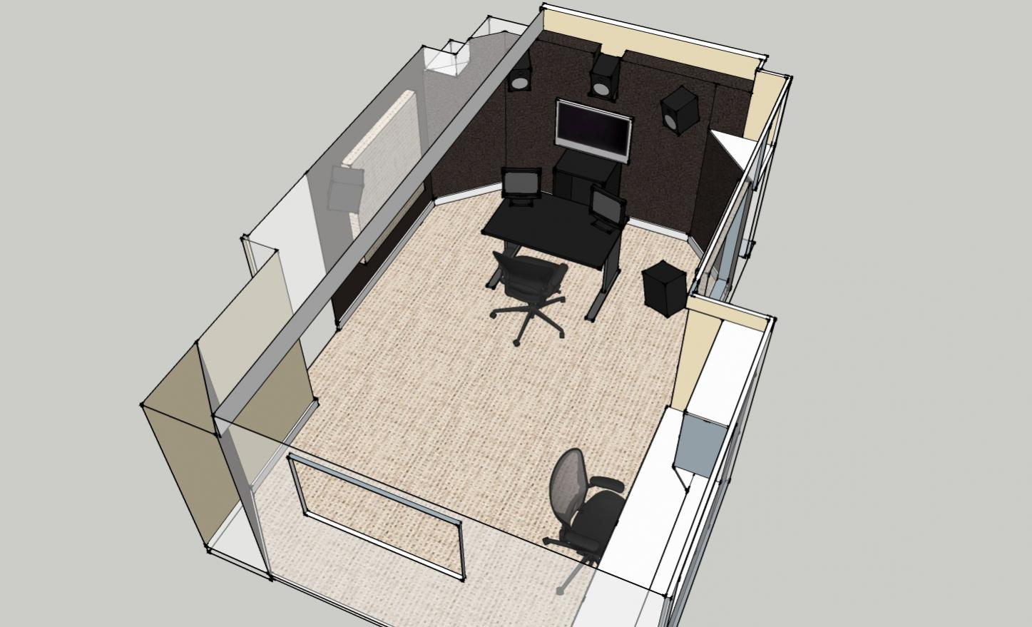 Small sound design room opinions please gearslutz for Small studio layout