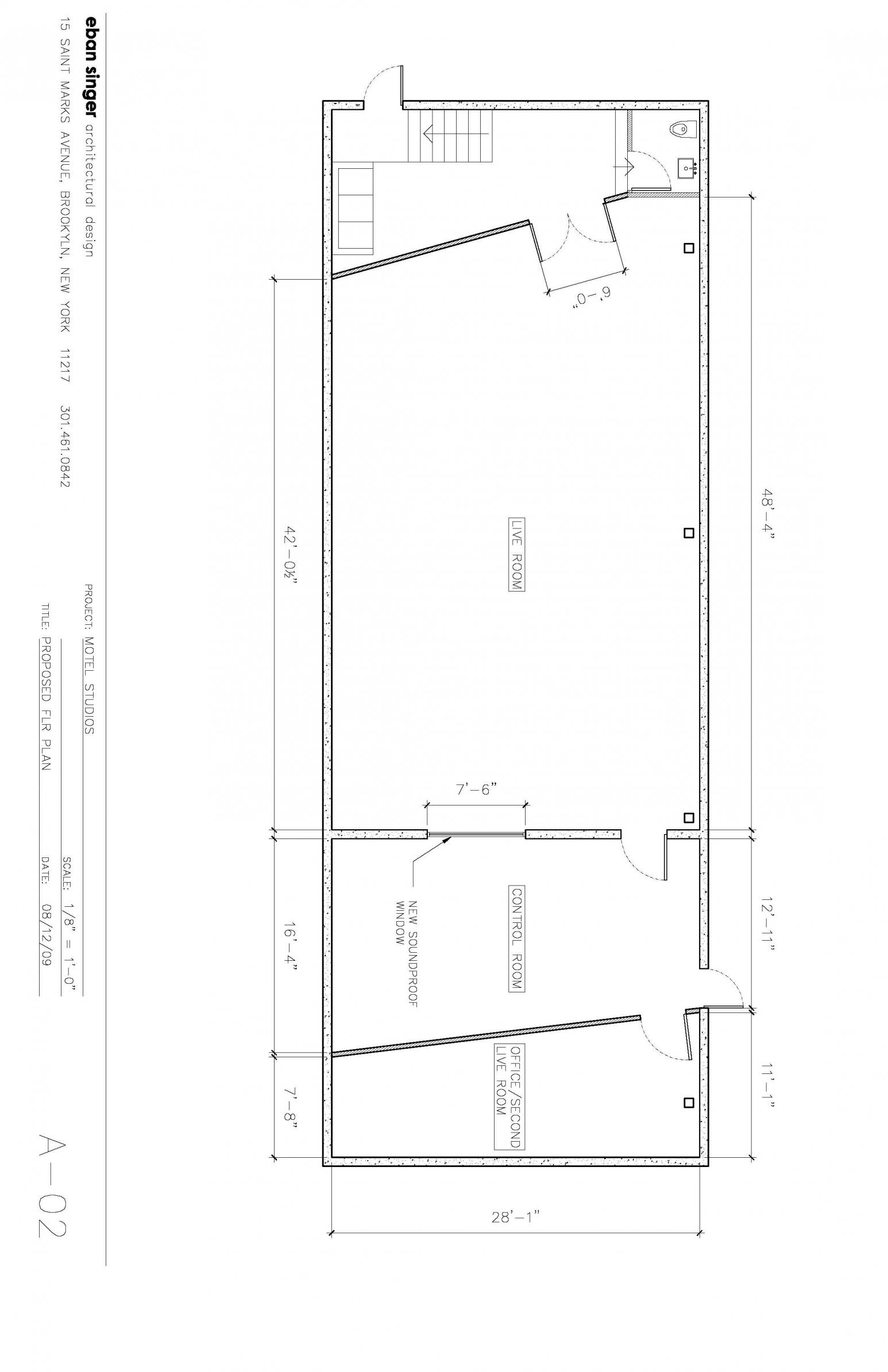 Recording Studio Floor Plans
