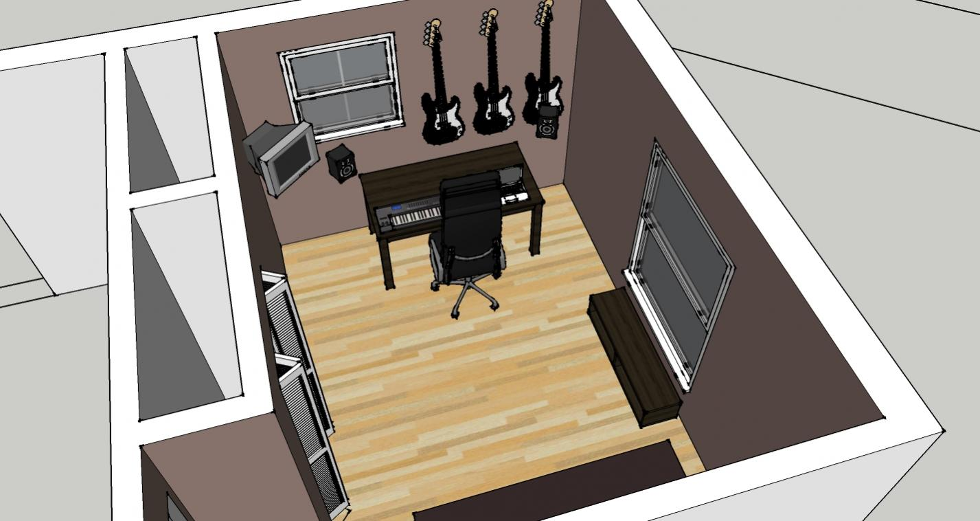 Recording mixing room setup gearslutz pro audio community for Recording studio flooring