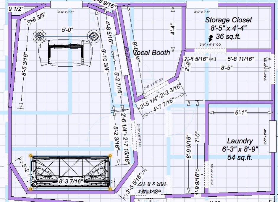 Basement studio buildout plans for Small recording studio plans