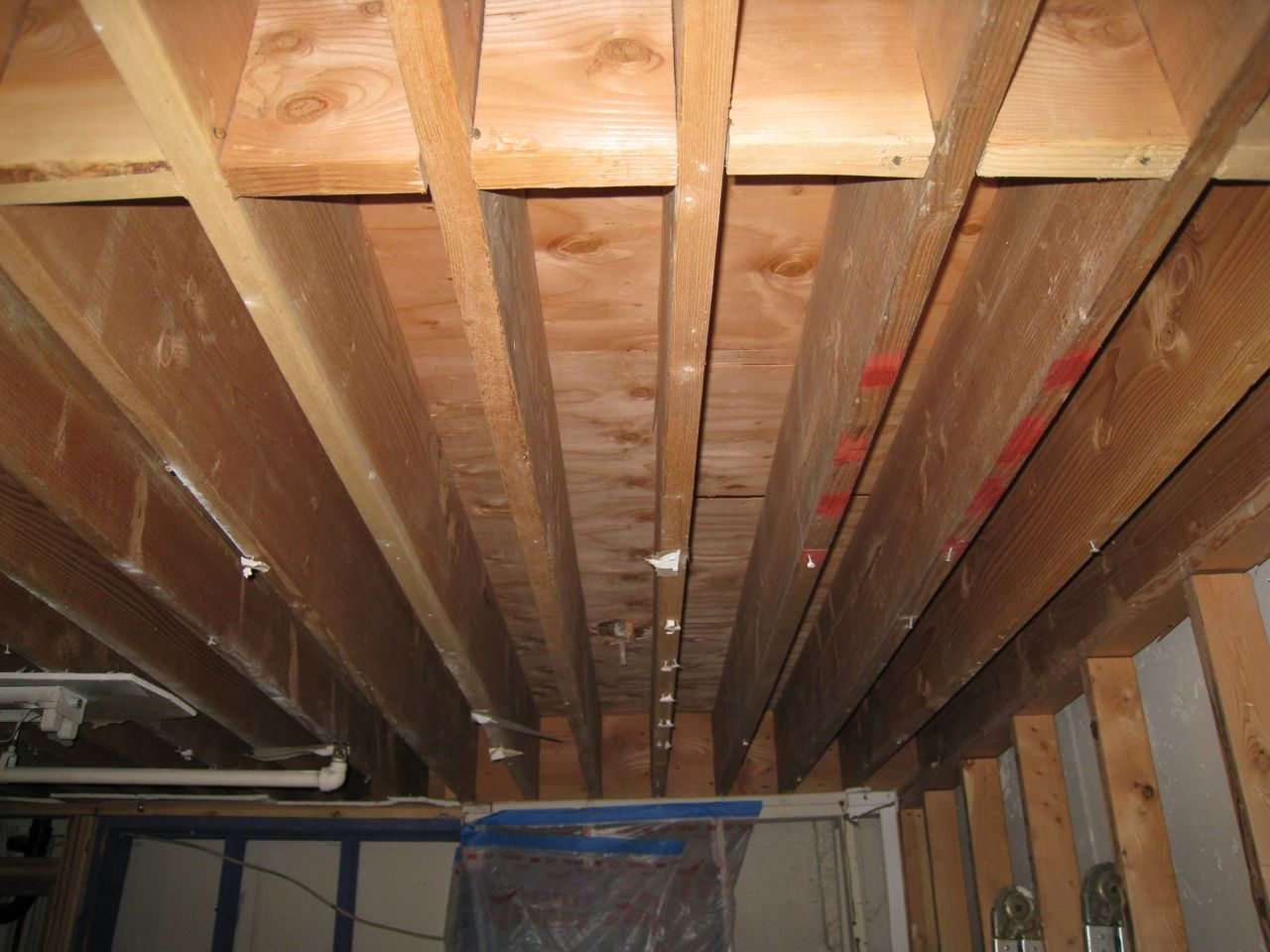 My 2x12 16oc joists are 8oc for Wood floor joist bridging