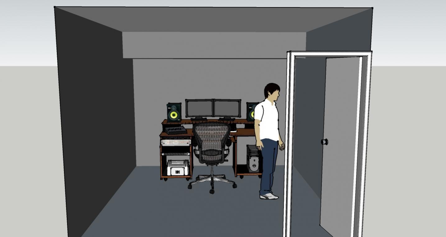 Help With Home Studio Mixing Room Layout Gearslutz Pro