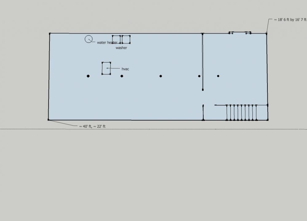Gearslutz pro audio community view single post 1400 sqft dry basement design idea 39 s - Basement design layouts ...