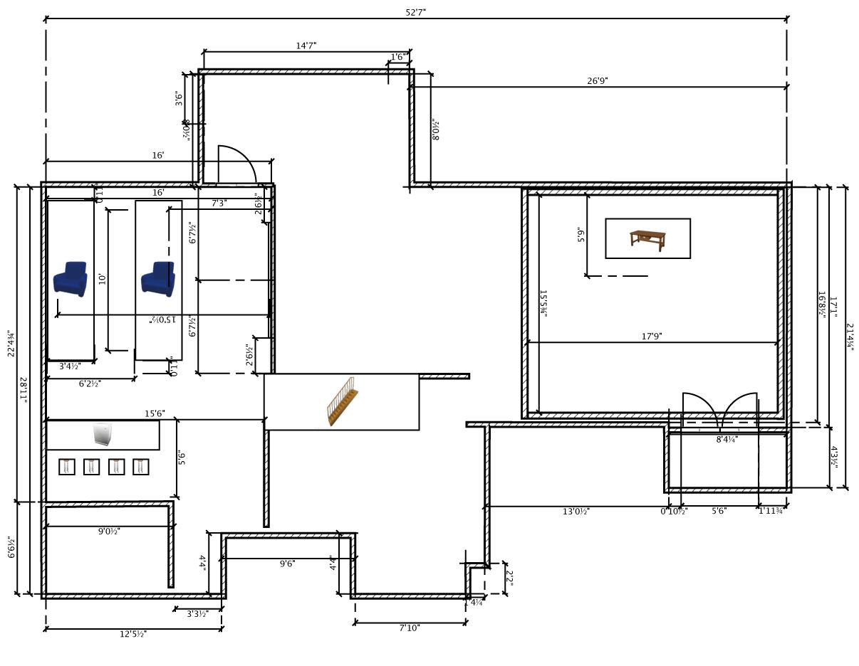 Basement studio new construction for New construction basement