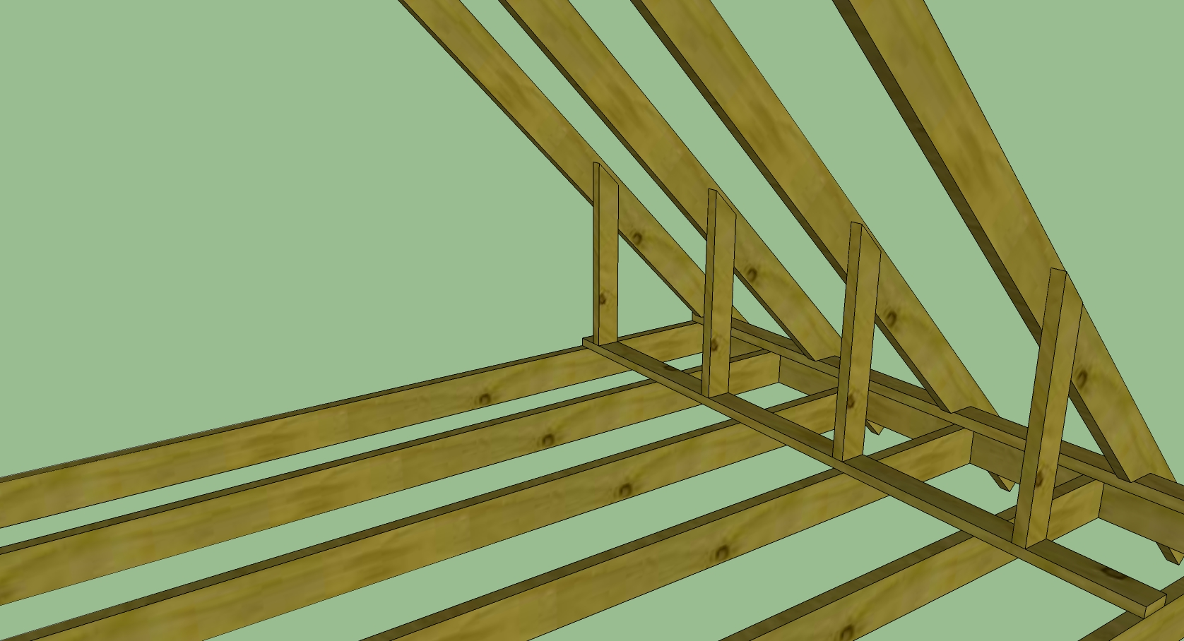 Control room build modes soffits slat walls etc for Knee wall support