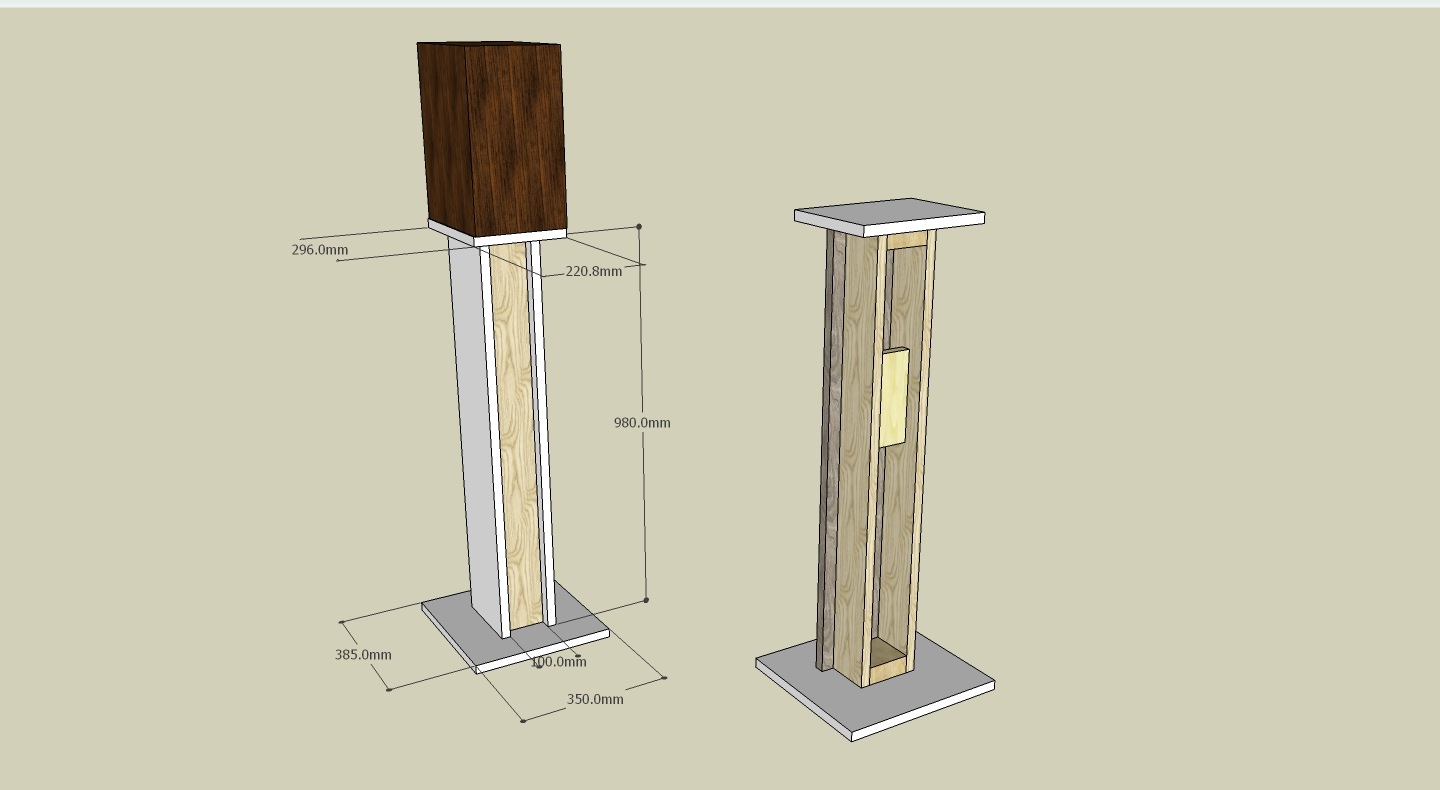 Easy To Build Woodworking Buy Wood Speaker Stand Plans