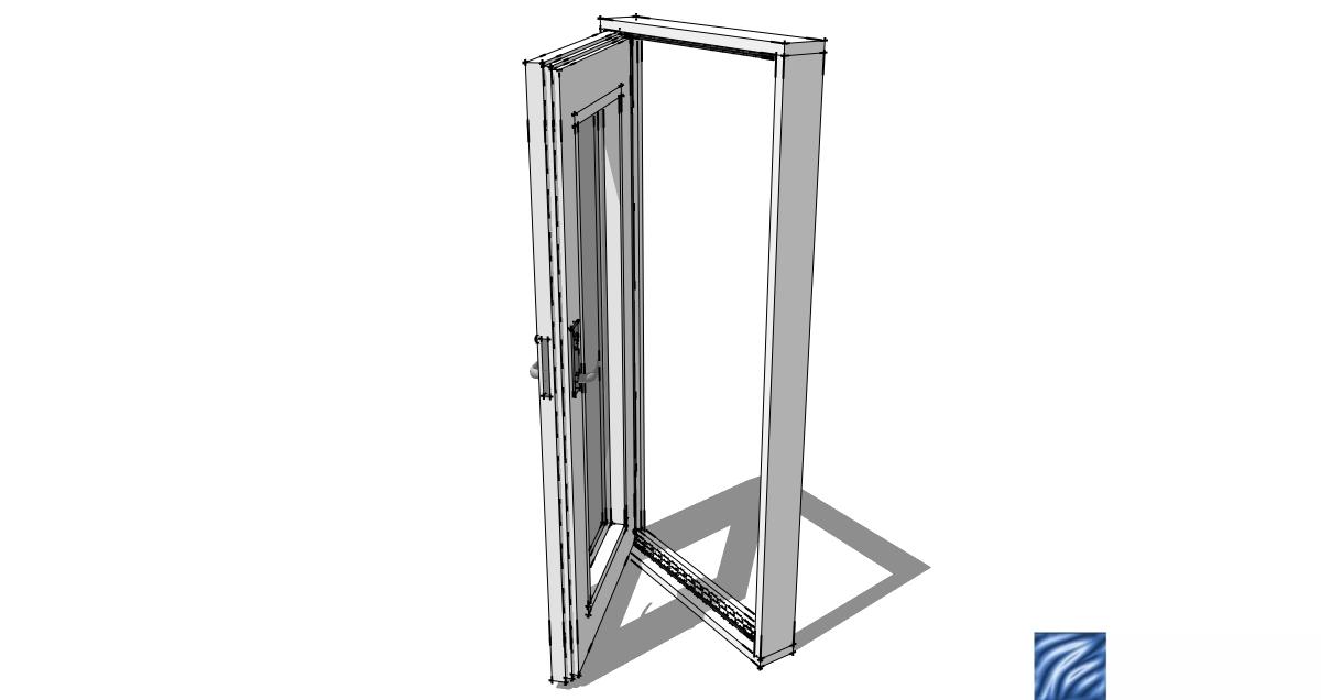 Sketchup doors wardrobe with sliding doors sketchup for Door 3d warehouse