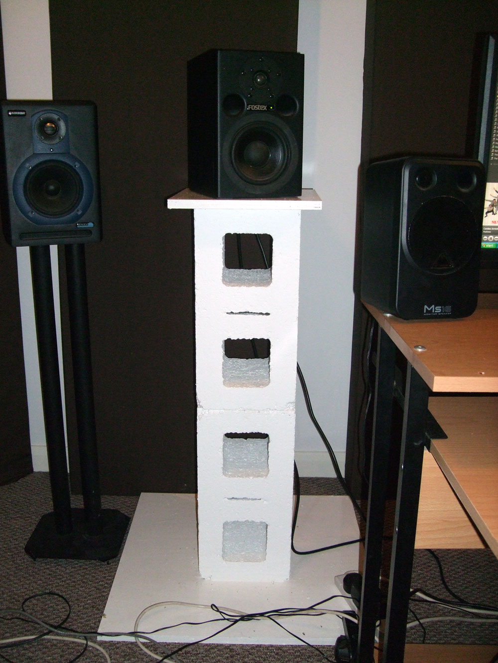 diy monitor stands made from hollow blocks gearslutz pro audio community. Black Bedroom Furniture Sets. Home Design Ideas