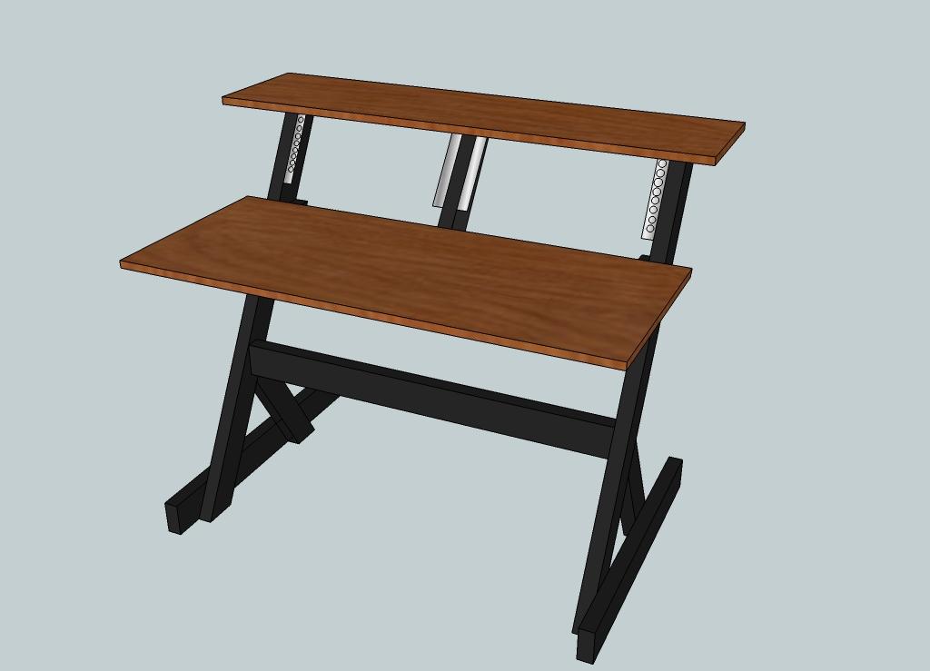check out my small simple studio desk design gearslutz rh gearslutz com best small studio desk small home studio desk
