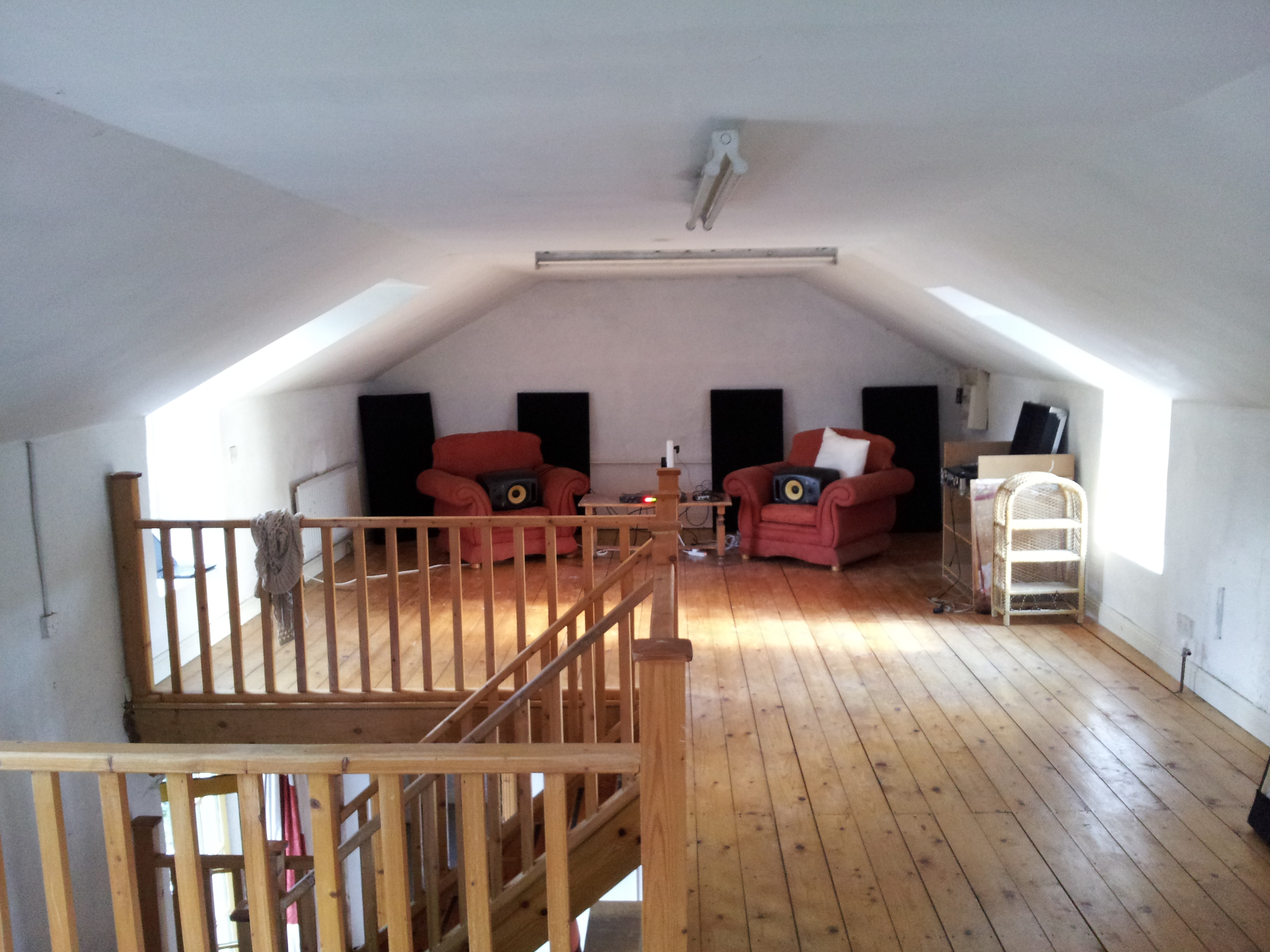New home for our home studio large attic space for Studio house