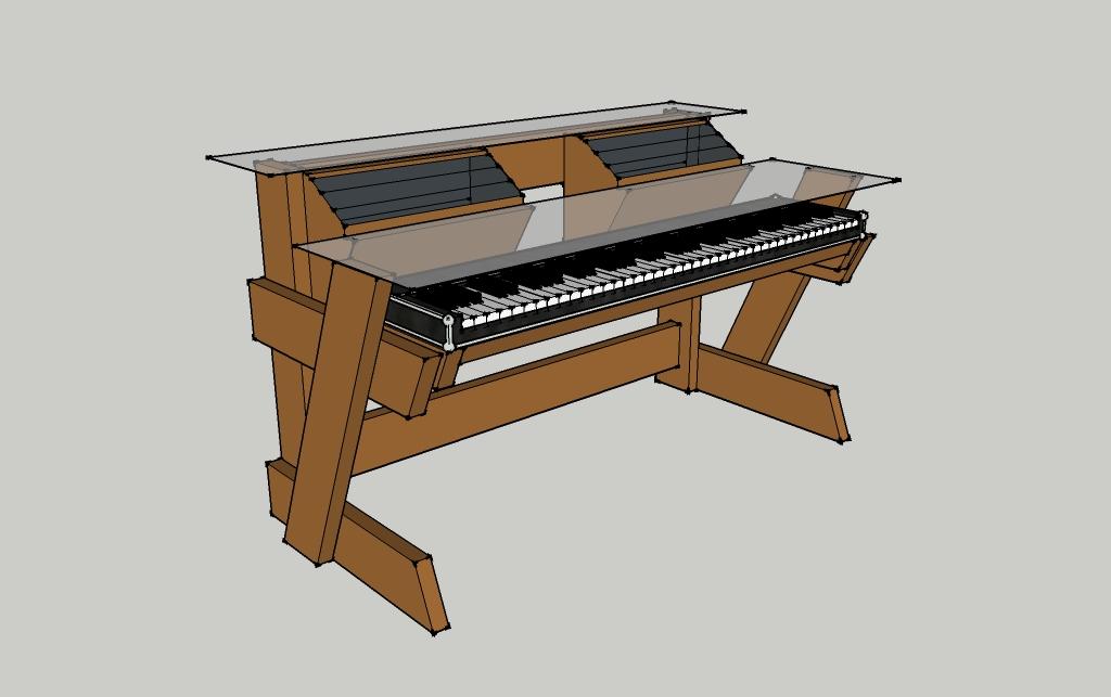 diy studio desk keyboard workstation under 100 gearslutz pro audio community. Black Bedroom Furniture Sets. Home Design Ideas