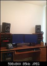 Will I be ok with the Yamaha HS80M monitors with my setup (pic attached)-desk-monitors.jpg