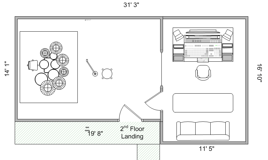 Help Decide My Attic Studio Layout Design