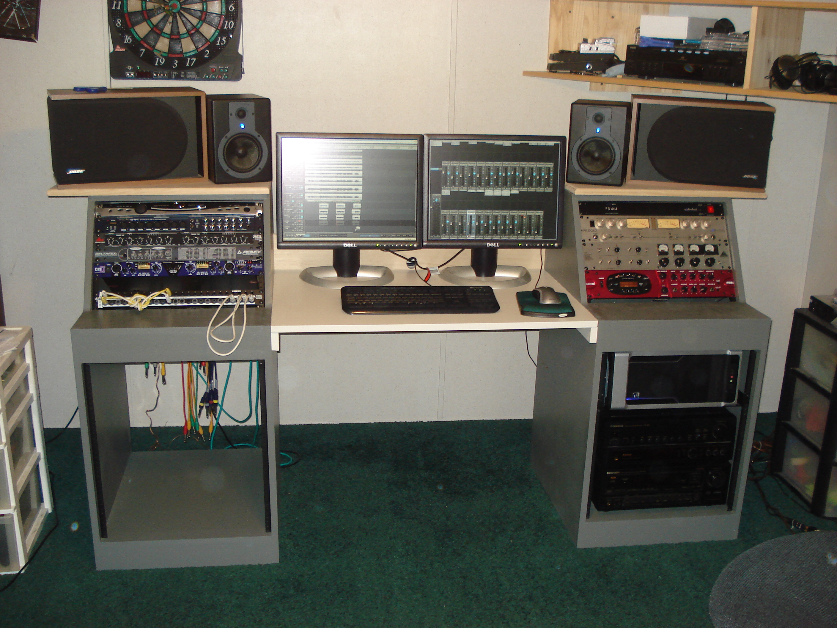 new desk build for bedroom studio gearslutz pro audio community. Black Bedroom Furniture Sets. Home Design Ideas