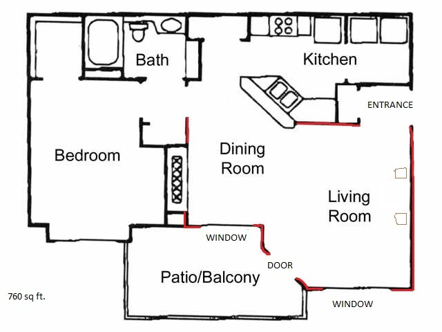 Odd shaped apartment for Odd living room layout