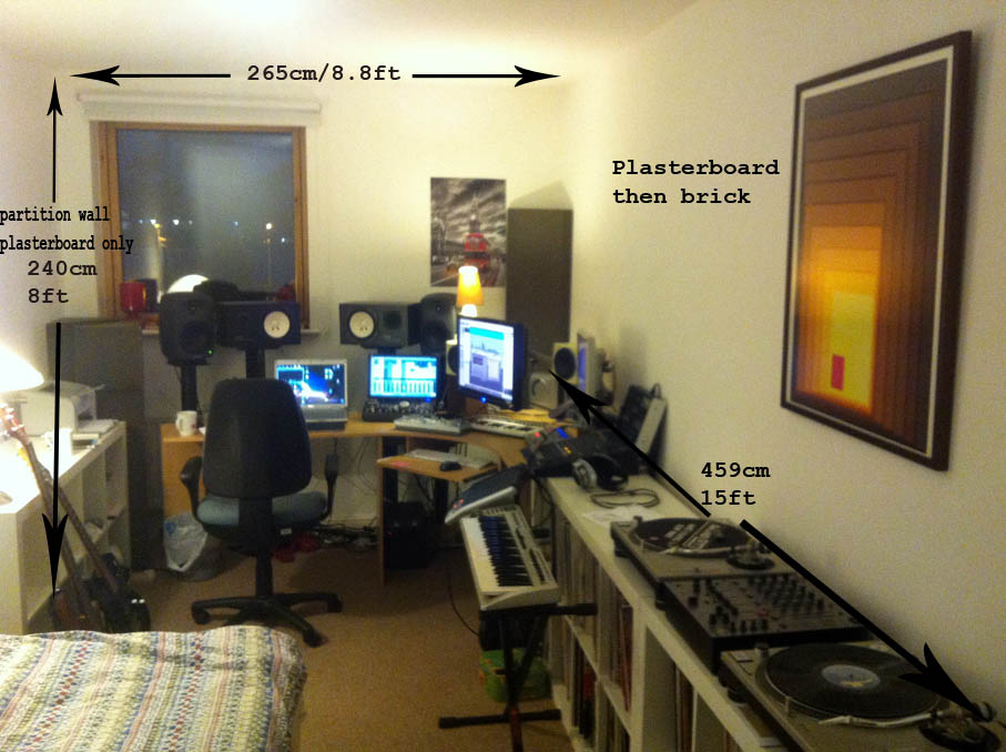 Not another small bedroom studio treatment gearslutz pro - Bedroom studio acoustic treatment ...