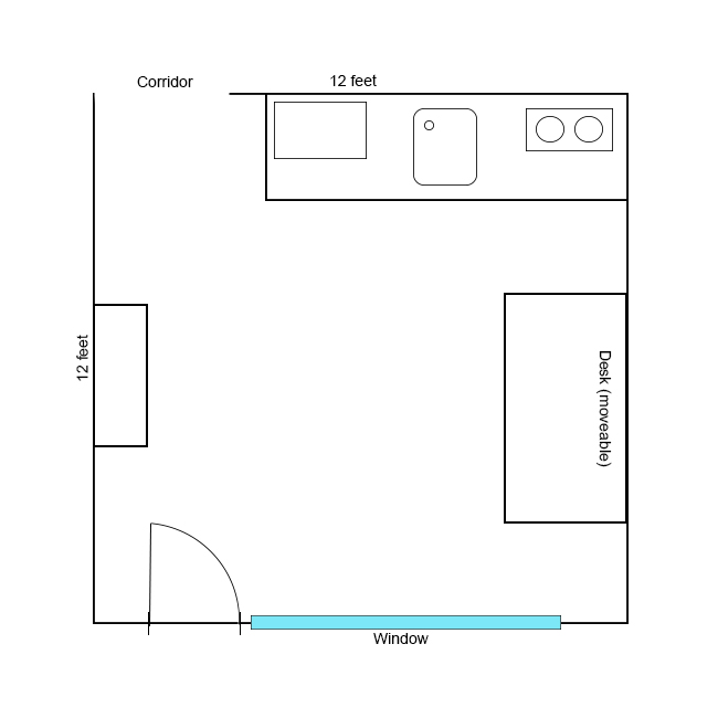 help with desk and monitor positioning in small room  noob