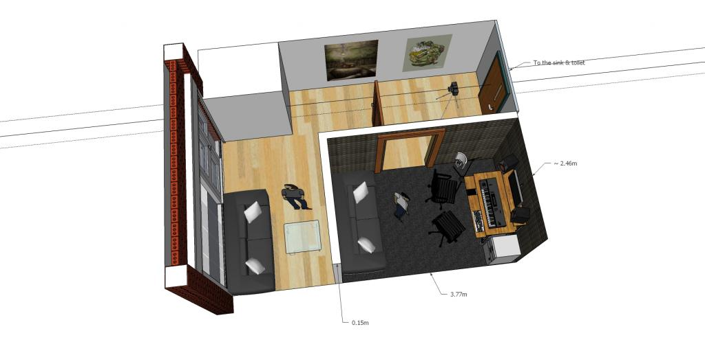 My music room design any advice gearslutz pro audio for 17th floor band