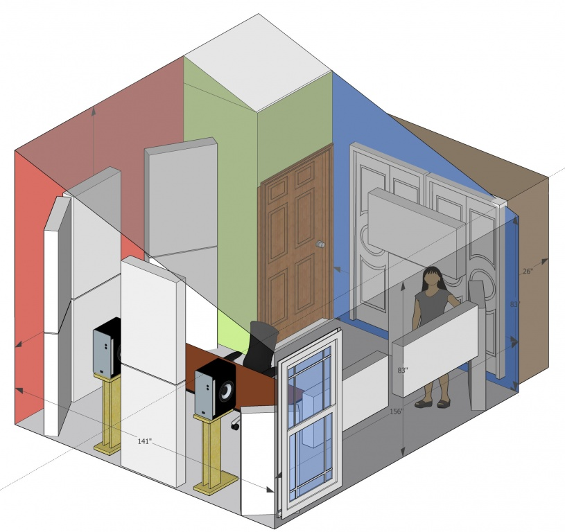 New Studio, need some help - Sketchup + fuzzmeasure plots attached