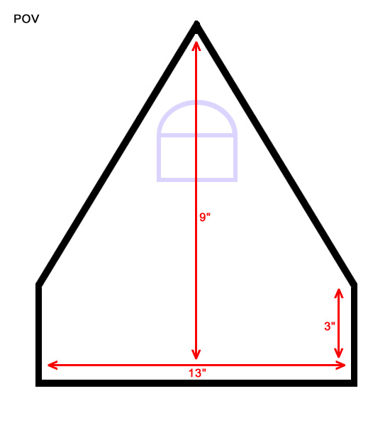 Decent Dimensions But Gable Roof.