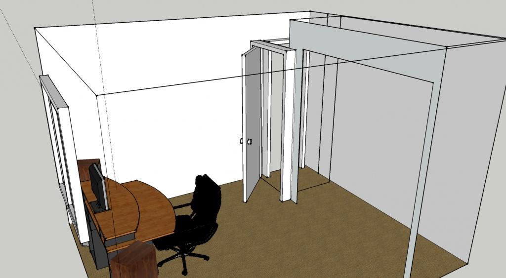 ... Sound Proofing A Door Studio Transperant 2nd Door Side ...