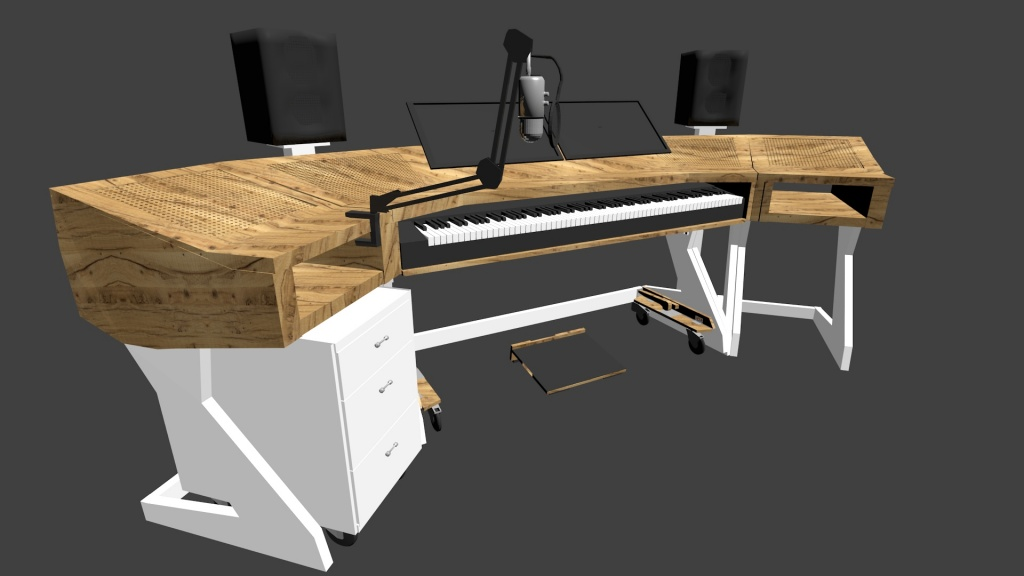 A New Desk For 88 Key Midi Controller 1st Stage Design