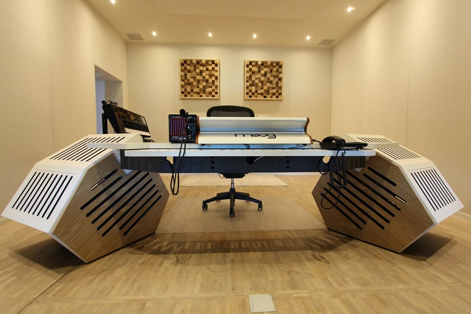 Studio furniture with built in acoustic treatment - Bedroom studio acoustic treatment ...