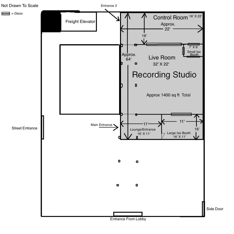 Building pro recording studio which walls should i angle for Music studio floor plans