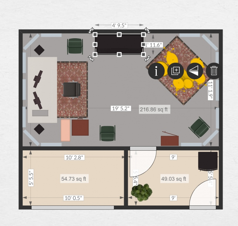Help proposed floor plans for garage conversion project for Garage studio plans
