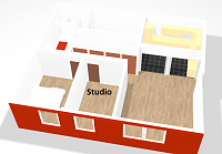 Shed Studio - floor insulation and sound Proofing-stud.png