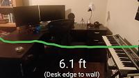 Corner desk and limited space. Can I use monitors, or should I opt for headphones? Pics included-2.jpg