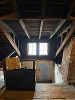 Building Recording Studio in 3rd Story Converted Attic - Looking for Designer References & Guidance-existing-dormer-walk-up-stairs.jpg