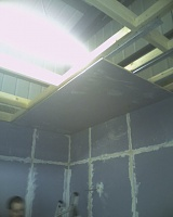 Signed the lease, paid the deposit...oh crap now the hard work really begins!-firstceilingboardup.jpg