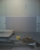 Signed the lease, paid the deposit...oh crap now the hard work really begins!-9.5mm-plasterboard-starts-going-up.jpg