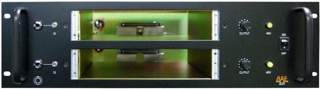 2 Channel Module Rack (2CR) - Black