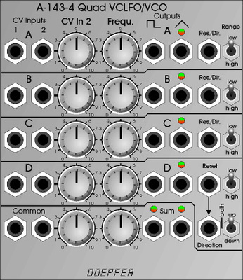 A-143-4 Quad VCLFO/Oscillator