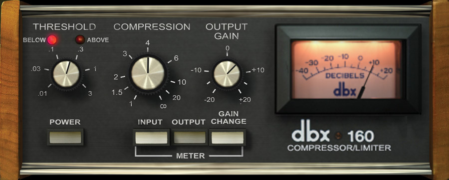 UAD dbx® 160 Compressor / Limiter Plug-In