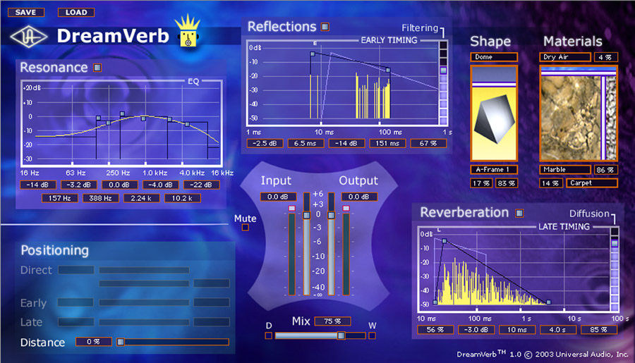 DreamVerb Room Modeler Plug-In